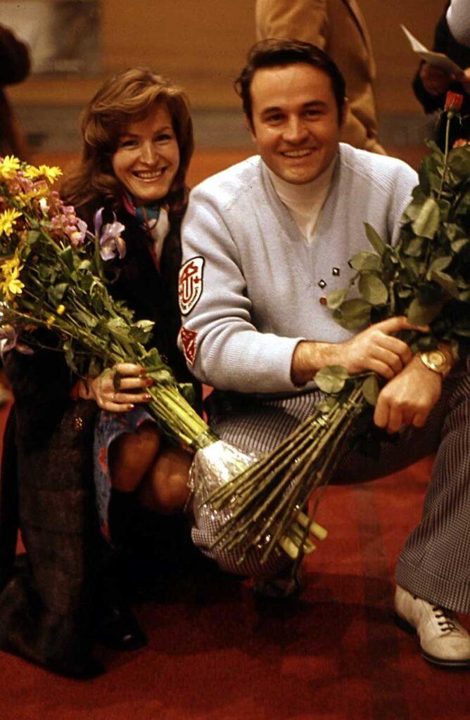 Weltmeister Ottavio Danieli mit seiner Frau Regina, in Perth/SCO, 1975